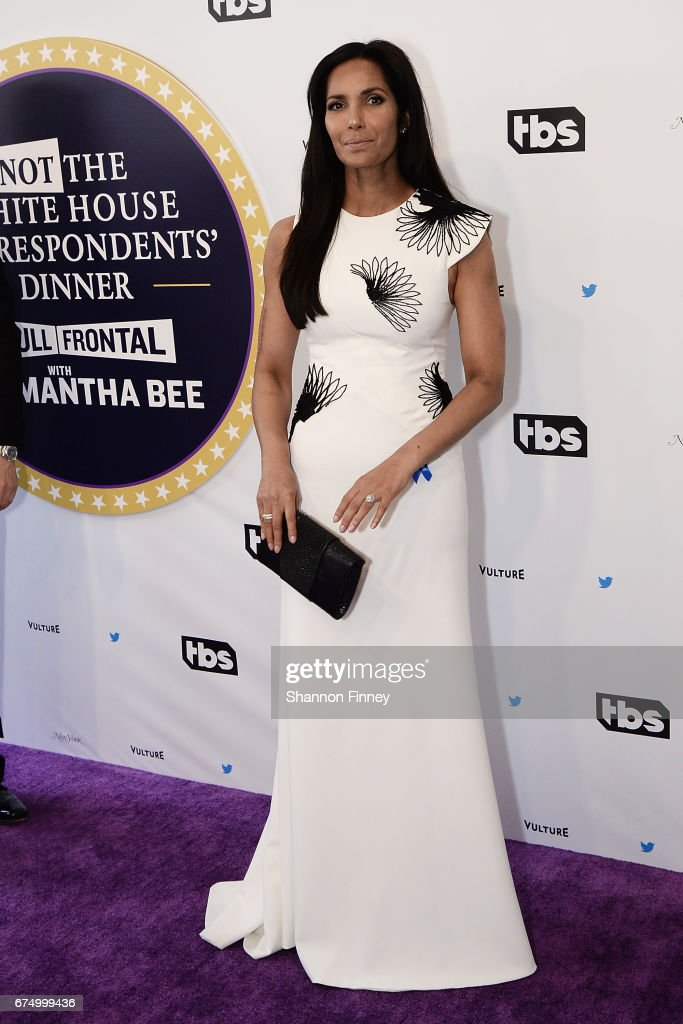 Padma Lakshmi of 'Top Chef' attends the 'Not the White House Correspondents' Dinner' at DAR Constitution Hall on April 29, 2017 in Washington, DC.