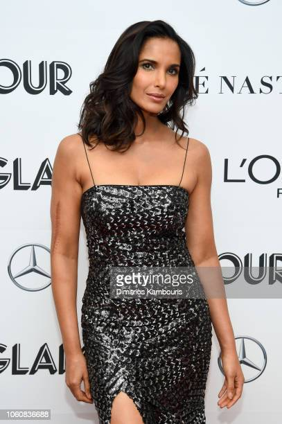 Padma Lakshmi poses backstage at the 2018 Glamour Women Of The Year Awards Women Rise on November 12 2018 in New York City