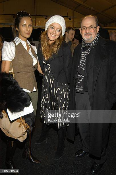 Padma Lakshmi Rushdie Alice Temperley and Salman Rushdie attend TEMPERLEY LONDON Fall 2006 Collection at The Promenade at Bryant Park on February 9...