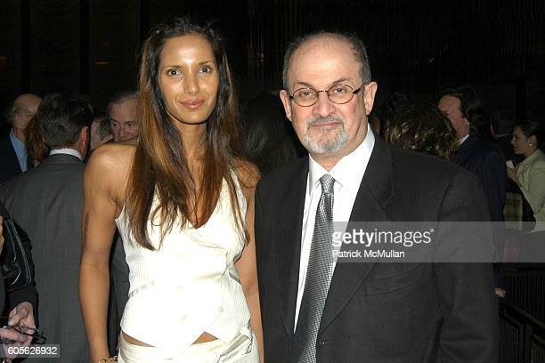 Padma Lakshmi Rushdie and Salman Rushdie attend Barbara Walters and Don Hewitt host a dinner in honor of George Clooney David Strathairn Frank...