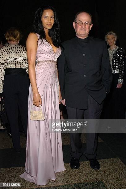 Padma Lakshmi Rushdie and Salman Rushdie attend The 2005 Pen Montblanc Literary Gala at American Museum of Natural History on April 20 2005 in New...