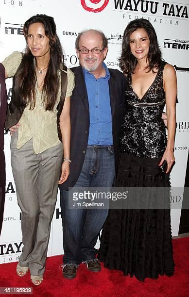 Padma Lakshmi Salman Rushdie and Patricia Velasquez