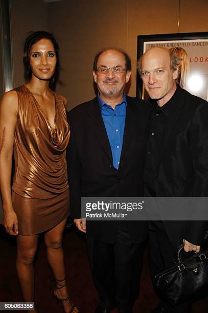 Padma Lakshmi Salman Rushdie and Timothy GreenfieldSanders attend PEOPLE's Martha Nelson hosts Timothy GreenfieldSanders' new book LOOK Portraits...