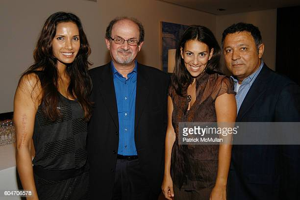 Padma Lakshmi Salman Rushdie Rory Tahari and Elie Tahari attend Cocktail Party to Benefit UJA FEDERATION OF NEW YORK and Honor GLAMOUR EditorinChief...