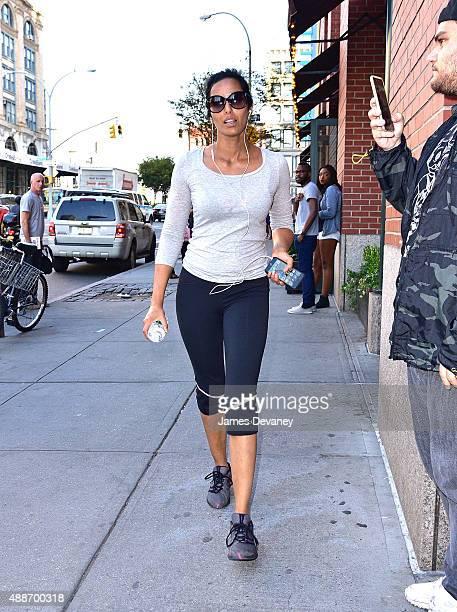 Padma Lakshmi seen on the streets of Manhattan on September 16 2015 in New York City