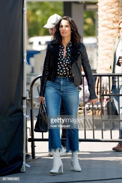 Padma Lakshmi visits 'Extra' at Universal Studios Hollywood on March 5 2018 in Universal City California