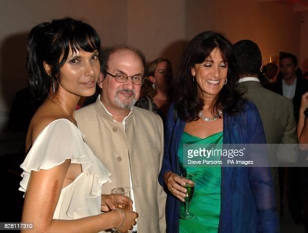 Padma Rushdie Salman Rushdie and Gail Rebuck at the launch of his new book