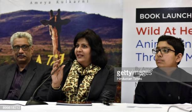 Padma Shri awardee Rio Paralympics 2016 silver medalist Paraathlete Deepa Malik with Ameya Kulkarni and other's address the People NGO Smile Train as...