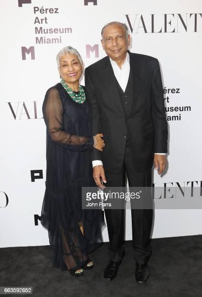 Padma Vattikuti and Raj Vattikuti at PAMM Art Of The Party Presented By Valentino at Perez Art Museum Miami on April 1 2017 in Miami Florida