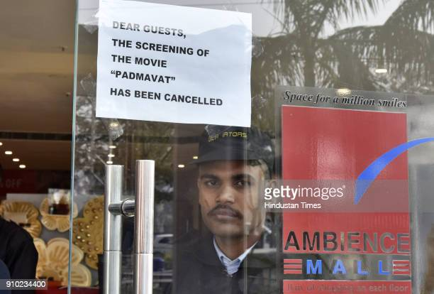 Padmaavat shows at Ambience Mall cancelled on January 25 2018 in Gurgaon India According to the film's maker Viacom 18 one million people watched...