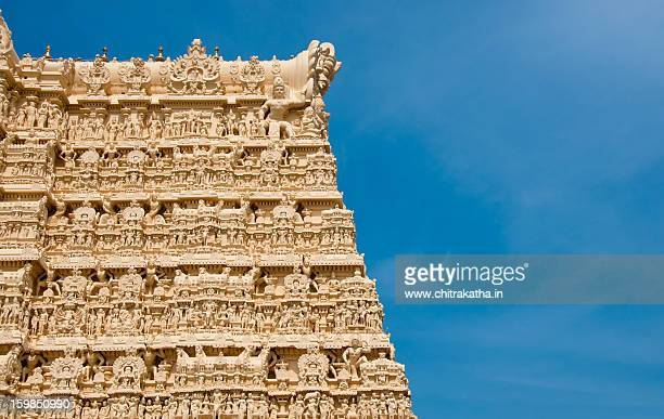 padmanabha temple, thiruvananthapuram - thiruvananthapuram stock photos and pictures