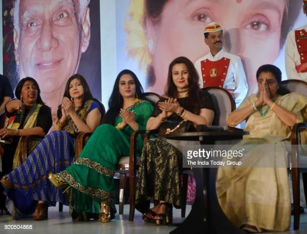 Padmini Kolhapure Poonam Dhillon Asha Bhosle and Alka Yagnik at the Yash Chopra Memorial Award 2018 in Mumbai