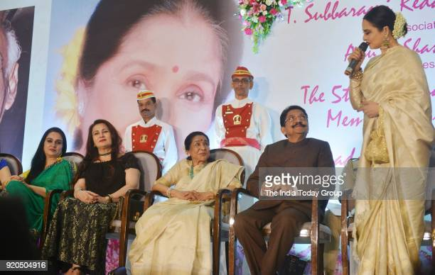 Padmini Kolhapure Poonam Dhillon Rekha C Vidyasagar Rao and Asha Bhosle at the Yash Chopra Memorial Award 2018 in Mumbai