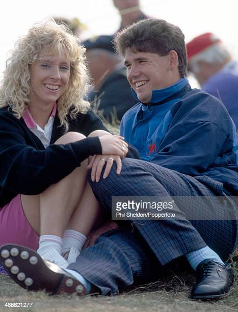 Padraig Harrington and his wife Caroline during the Walker Cup golf competition held at the Portmarnock Golf Course in Ireland circa 1991 The United...