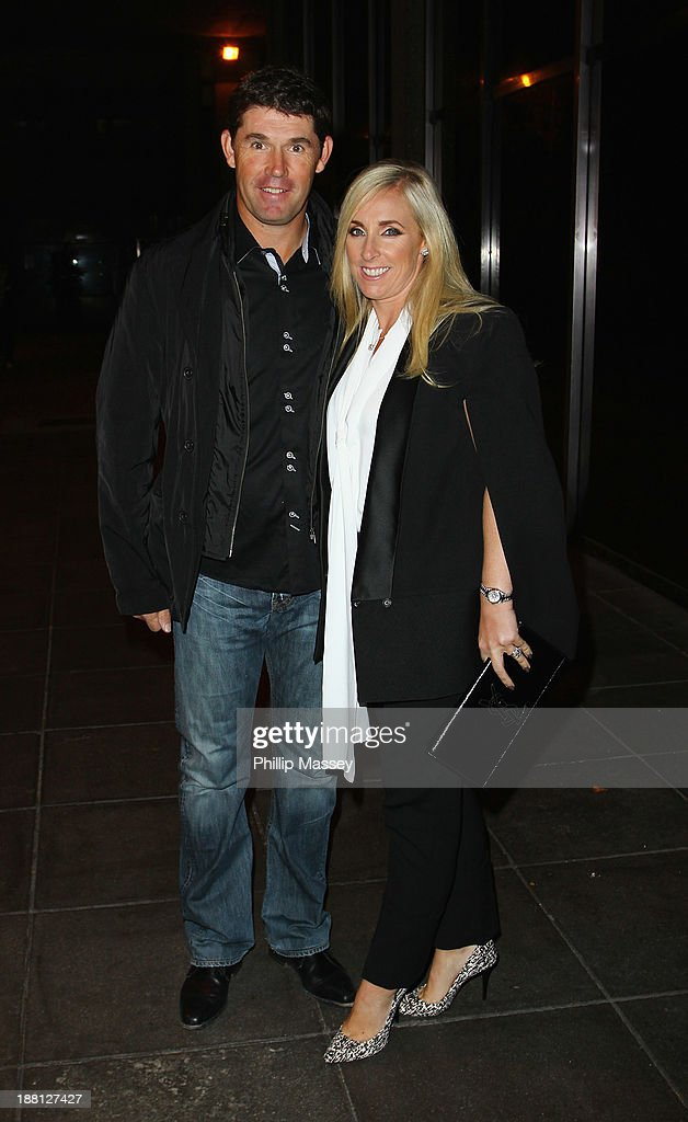 Padraig Harrington and wife Caroline Harrington appear on the Late Late Show at RTE Studios on November 15, 2013 in Dublin, Ireland.