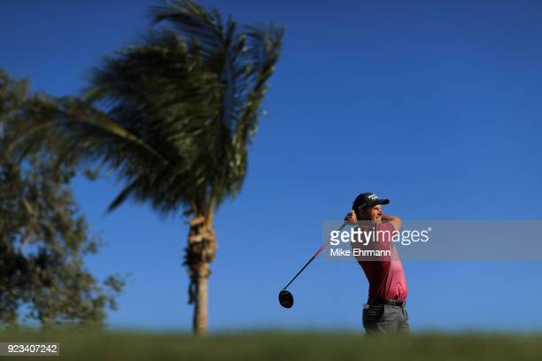 Padraig Harrington from Ireland plays his tee shot on the 13th hole during the second round of the Honda Classic at PGA National Resort and Spa on...