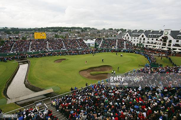 Padraig Harrington of Ireland celebrates after after winning The 136th Open Championship at the Carnoustie Golf Club on July 22 2007 in Carnoustie...