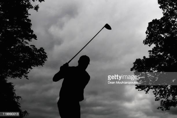 Padraig Harrington of Ireland hits his tee shot on the 16th hole during the first round of the Discover Ireland Irish Open held at Killarney Golf and...