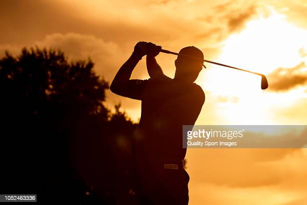 Padraig Harrington of Ireland in action during day one of Andalucia Valderrama Masters 2018 at Real Club Valderrama on October 18 2018 in Cadiz Spain