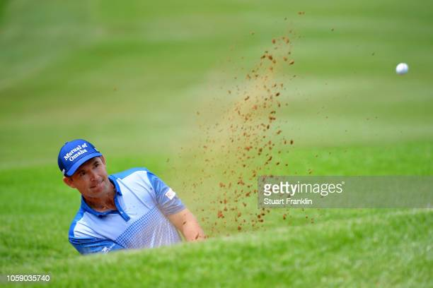 Padraig Harrington of Ireland in action during day one of the Nedbank Golf Challenge at Gary Player Golf Course on November 8 2018 in Sun City South...