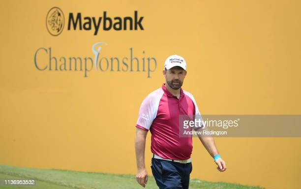 Padraig Harrington of Ireland in action during the Pro Am event prior to the start of the Maybank Championship at the Saujana Golf Country Club Palm...