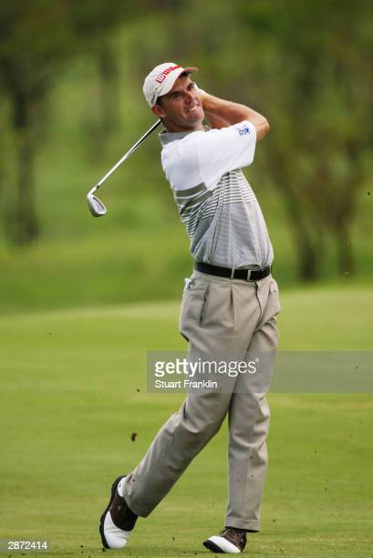 Padraig Harrington of Ireland in action during the second round of The Nedbank Golf Challenge Cup held on November 28 2003 at The Gary Player Country...