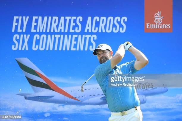 Padraig Harrington of Ireland in action on Day Two of the Maybank Championship at at Saujana Golf Country Club Palm Course on March 22 2019 in Kuala...