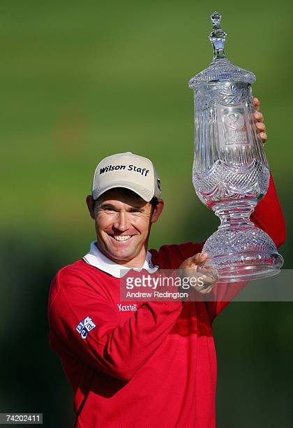 Padraig Harrington of Ireland poses with the trophy after winning the Irish Open on May 20 2007 at the Adare Manor Hotel and Golf Resort in Limerick...