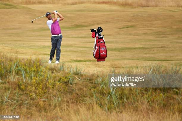 Padraig Harrington of Ireland seen while practicing during previews to the 147th Open Championship at Carnoustie Golf Club on July 15 2018 in...