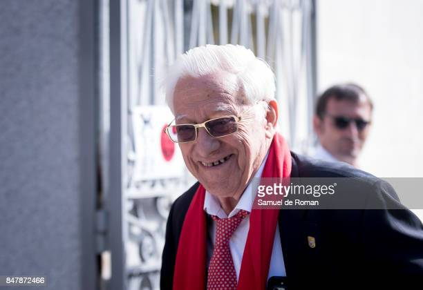 Padre Angel arrives to the Funeral Tribute For Angel Nieto in Madrid on September 16 2017 in Madrid Spain