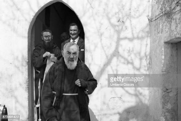Padre Pio at the Sanctuary of Saint Pio of Pietrelcina 1963