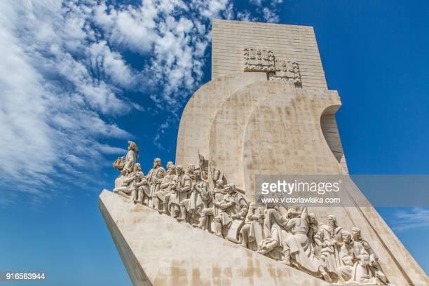 padrão dos descobrimentos, belem, lisbon - monument stock pictures, royalty-free photos & images
