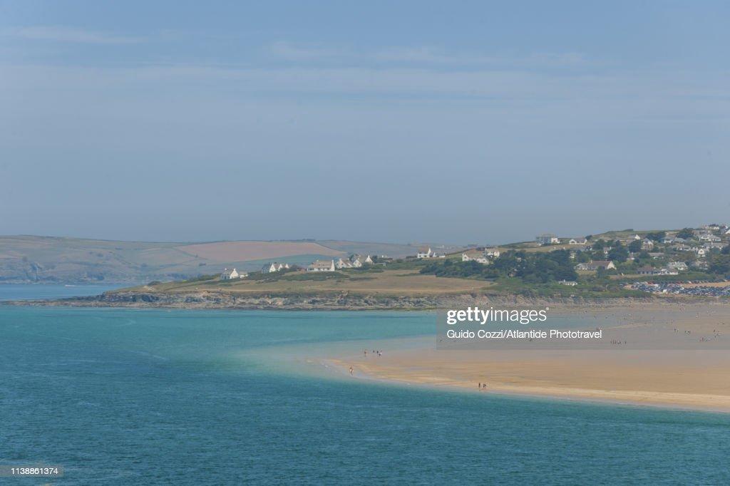 Padstow, beach along River Camel : Stock Photo