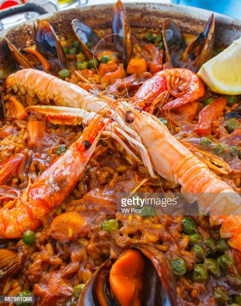 Paella A traditional spanish dish Spain Europe