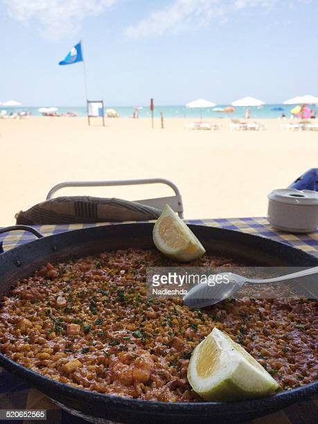 Paella at beach