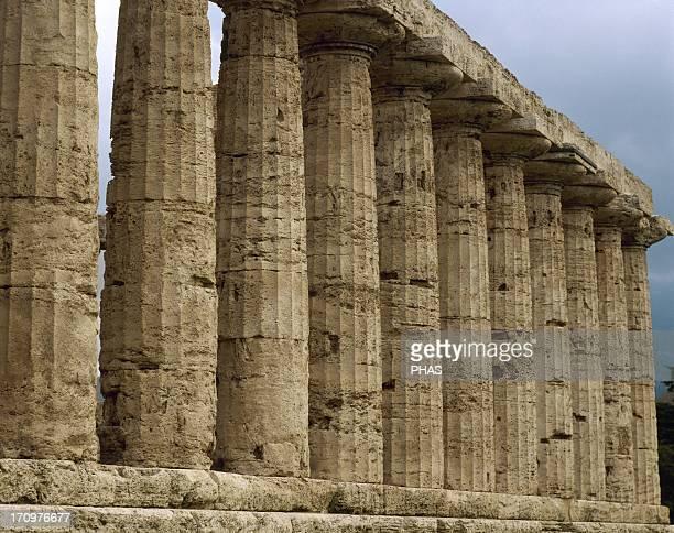 Paestum Temple of Athena 6th century BC Columns Italy