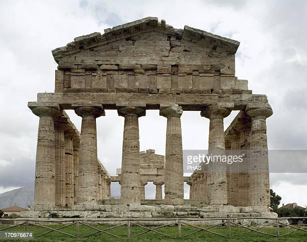 Paestum Temple of Athena 6th century BC Italy