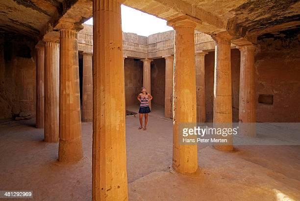 pafos, tombs of the kings, cyprus - insel zypern stock-fotos und bilder