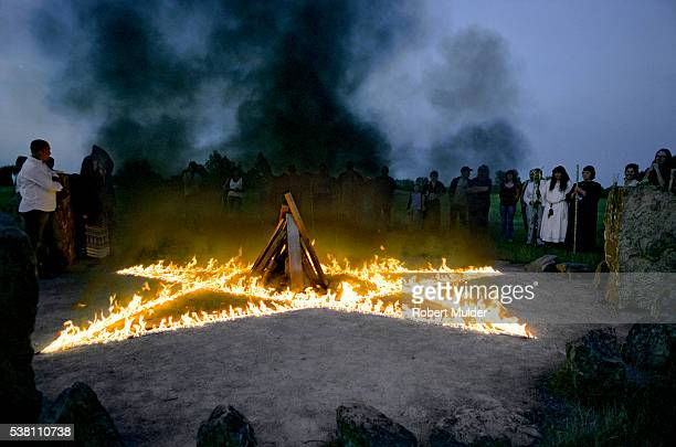 pagan ceremony - milton keynes stock pictures, royalty-free photos & images