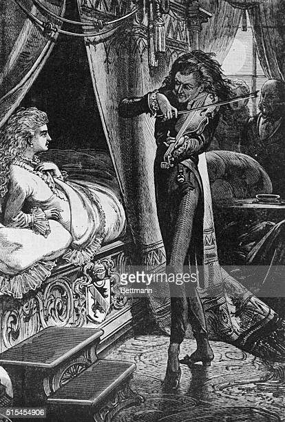 Paganini spell binding a young English lady with enchantment of his music