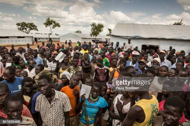 Pagarinya camp Hundreds of Sudanese refugees wait to hear about getting solar lamps and other badly needed assistance The Onward Struggle A refugee...