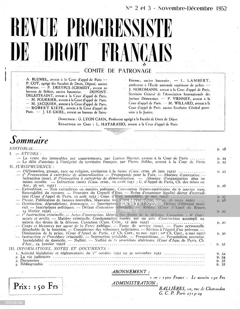 Page 1 of no 2 3 of the revue progressiste de droit francais page 1 of no 2 3 of the revue progressiste de droit francais freerunsca Images