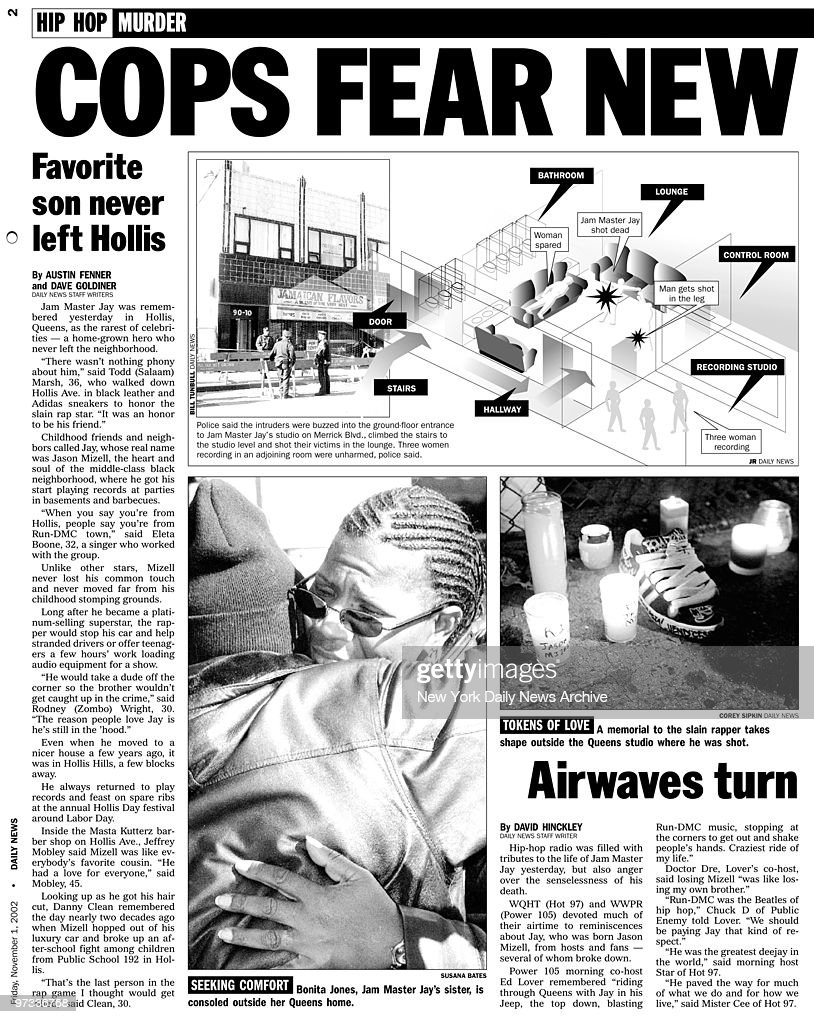 Page 2 Of November 11 2002 Daily News Headline Reads Cops Fear