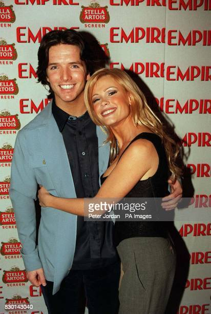 Page 3 girl and TV presenter Melinda Messenger with her husband Wayne at the Empire Film Awards in London where she presented the Best British...
