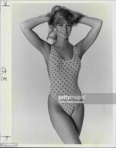 Page 3 girl LisetteGet straight to the point in this polka dot cossie from Summer Time SwimwearLisette has caught dot fever in her cotton jersey...