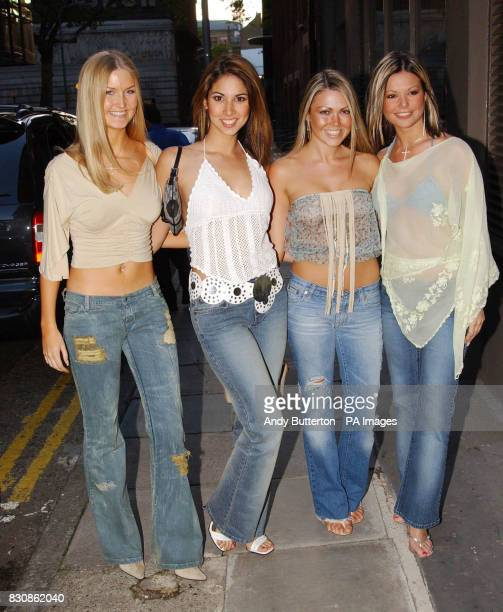 Page 3 girls and former Emmerdale actress Adele Silva arriving at the Upfront TV 10th anniversary party at Seven Dials in London's Covent Garden...