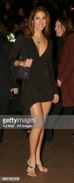 Page 3 glamour model Leilani arriving at the Empire cinema in London's Leicester Square for the European Gala Premiere of 'Vanilla Sky'