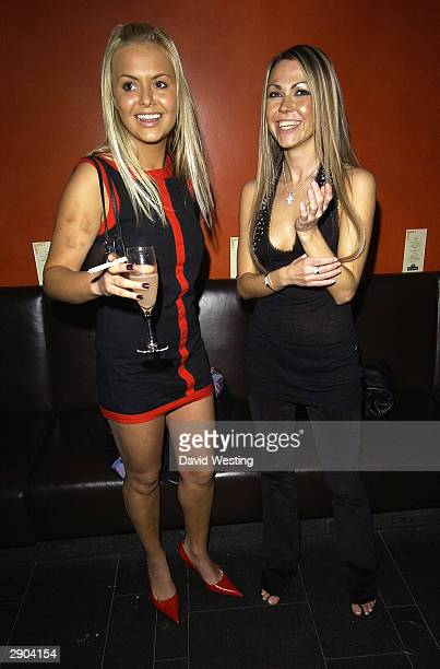 Page 3 model Ebony and actress Adele Silva attend the VIP Australia Day Party in aid of Great Ormond Street Hospital on January 26 2004 at east@west...