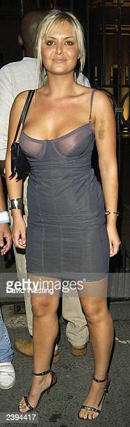 Page 3 Model Ebony leaves an MTV party at the In Out Club August 12 2003 in London England