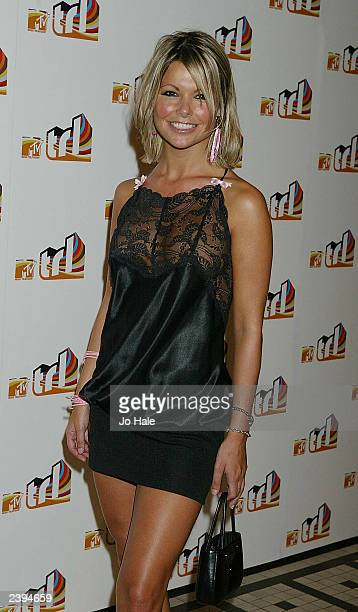 Page 3 model Jakki Degg attends the launch of MTV's TRL on August 12 2003 at the In Out Club in Piccadilly in London England